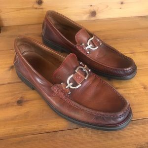 Donald J. Pliner brown leather dress shoes